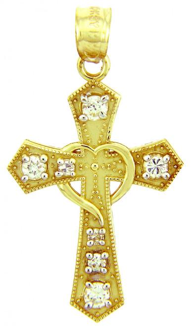 Gold Pendants - The CZ  Cross Gold Pendant