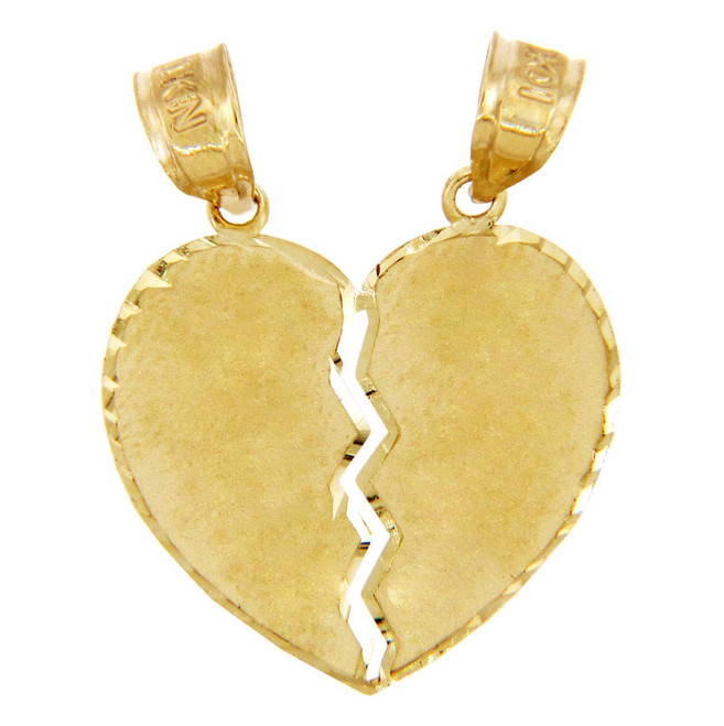 Gold Pendants - Breakable Heart Solid Gold Pendant