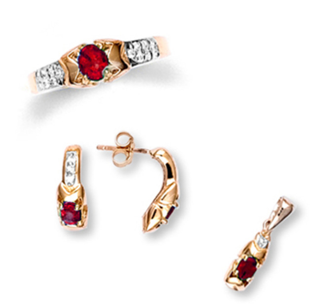 Gold Ruby Set