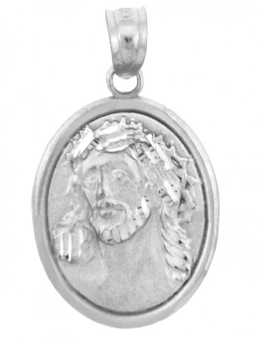 Religious Pendants -  Sacred Heart Of Jesus Sterling Silver Pendant