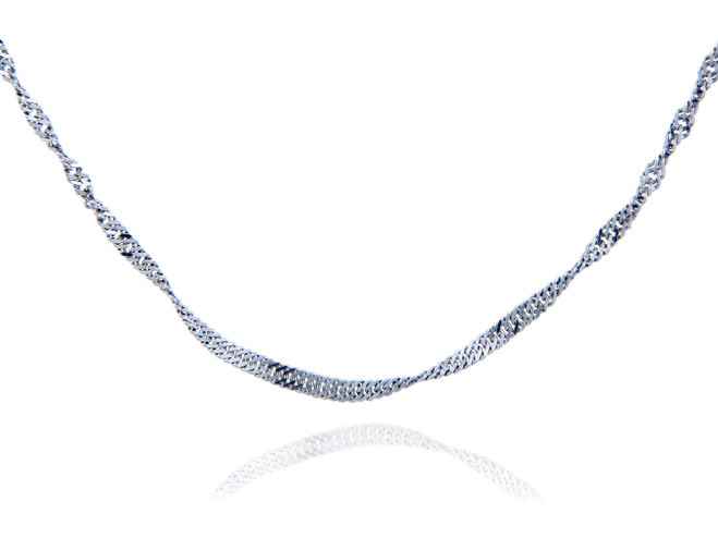 Singapore Sterling Silver Chain 1.52 mm
