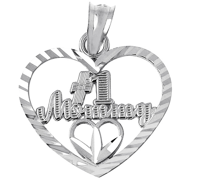 # 1 Mommy Silver Pendant