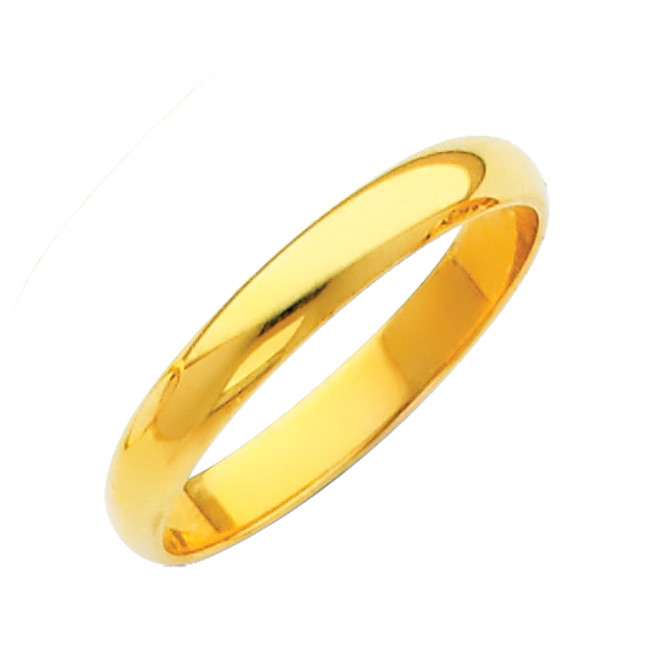 Gold Classic Wedding Band - 2MM