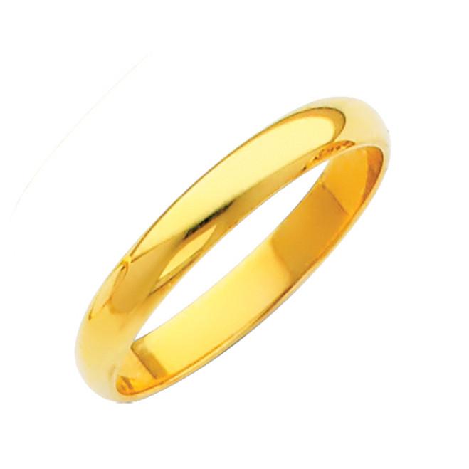 Gold Classic Wedding Band - 2MM