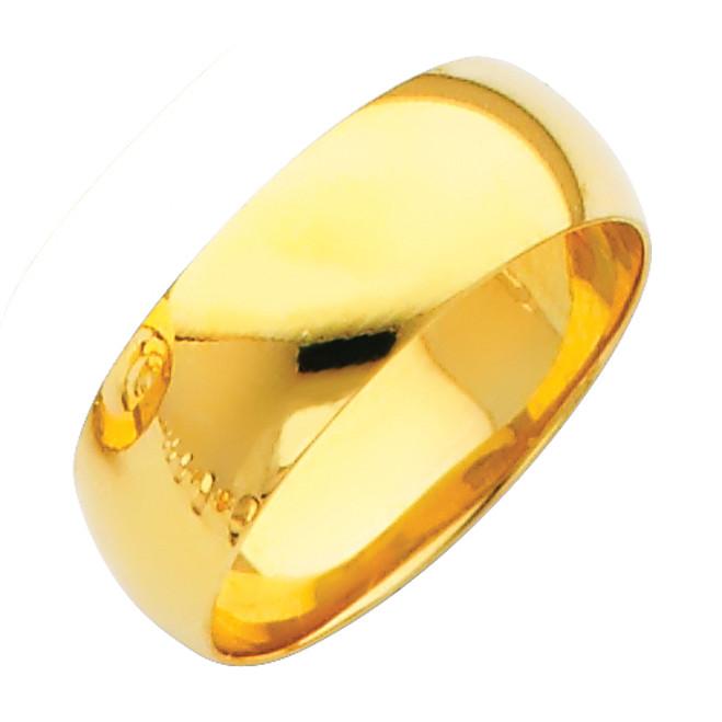Gold Classic Wedding Band 7MM