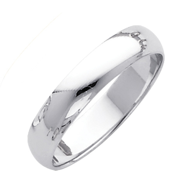 White Gold Classic Wedding Band (4mm)