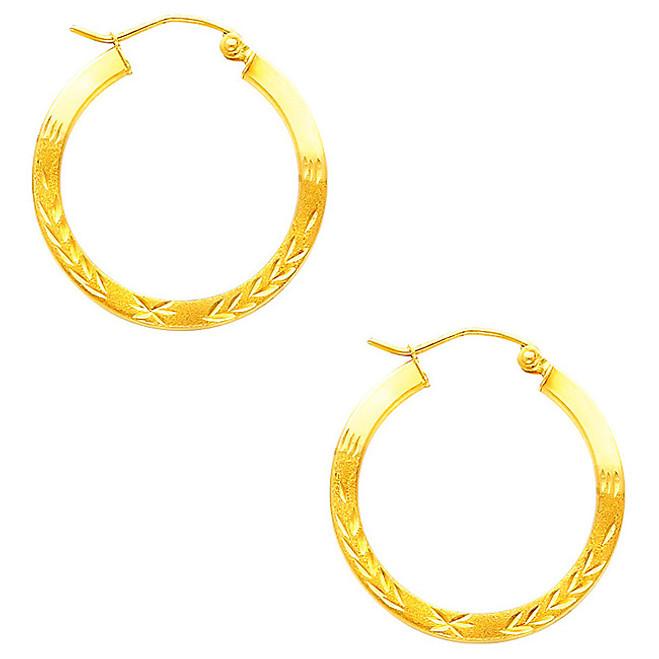 Fancy Hoop Earring-1 Inches