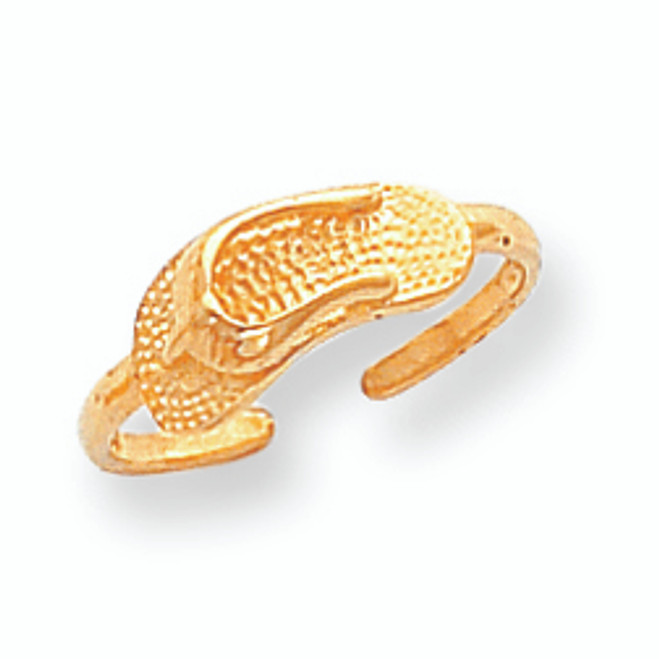 Yellow Gold Sandal Toe Ring
