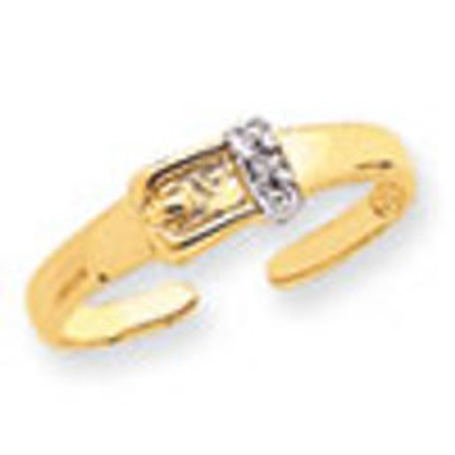 Diamond Buckle Toe Ring