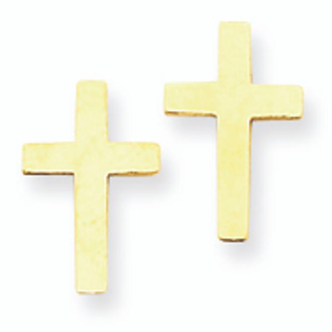 Polished Cross Earrings