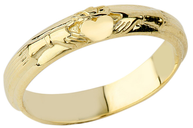 Gold Wedding Claddagh Ring