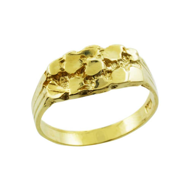 Yellow Gold Boy`s Nugget Ring