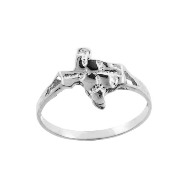 Silver Small Texas Nugget Ring