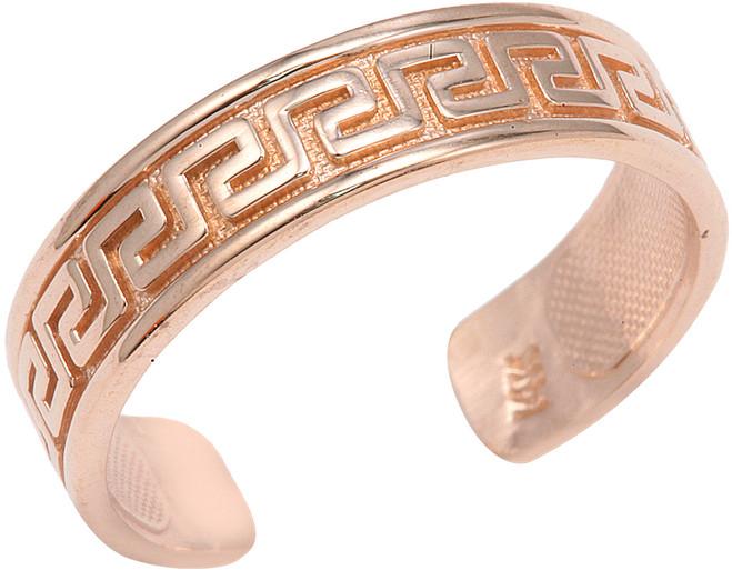 Rose Gold Greek Key Toe Ring