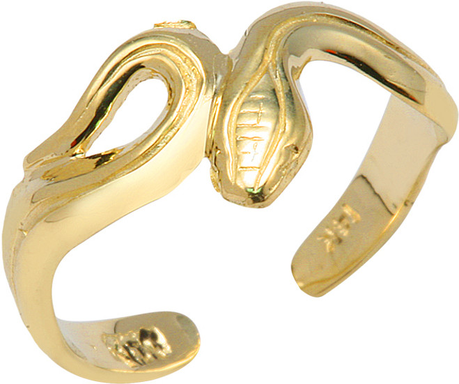 Yellow Gold Snake Toe Ring