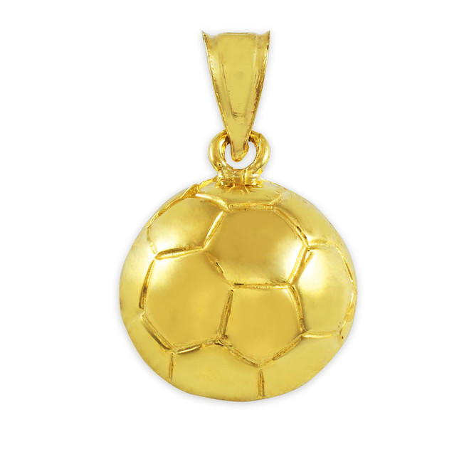 Soccer Ball Gold Sports Charm Pendant Necklace