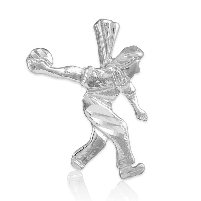 Silver Bowler Charm Sports Pendant