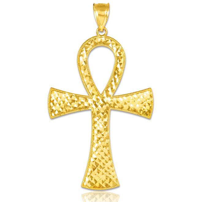 Egyptian Ankh Cross Gold Pendant