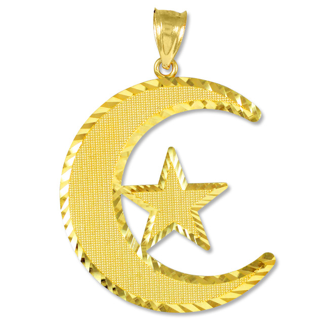 Islamic Crescent Gold Pendant