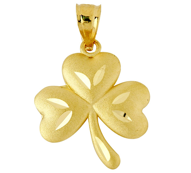 Clover Celtic Pendant In Gold