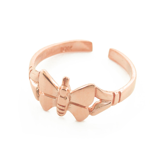 Rose Gold Butterfly Toe Ring