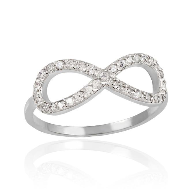 White Gold Diamond Infinity Ring