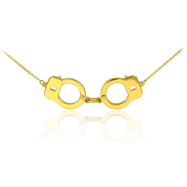 14k Gold Handcuffs Necklace