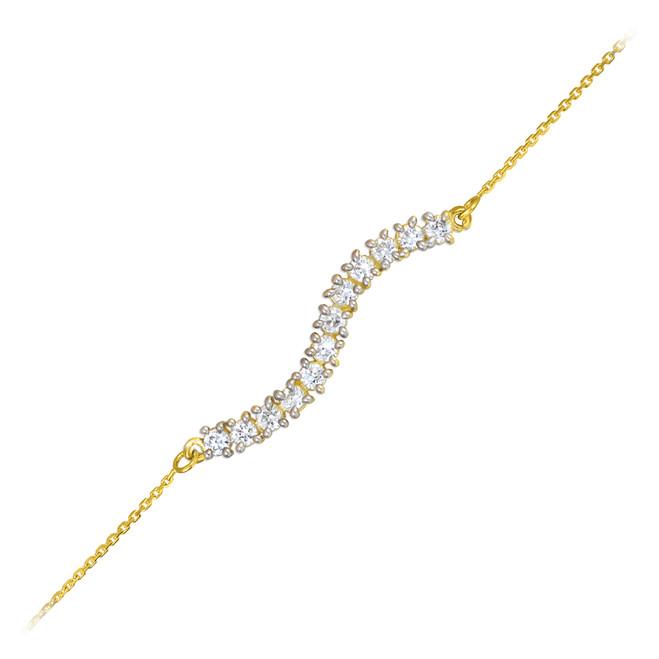 14k Gold CZ Journey Bracelet