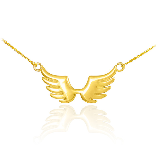 14k Gold Angel Wings Necklace