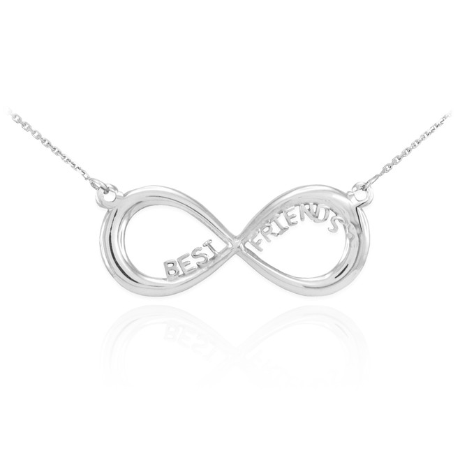 """Sterling Silver """"BEST FRIENDS"""" Infinity Necklace"""