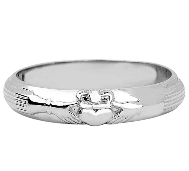 Silver Claddagh Wedding ring.