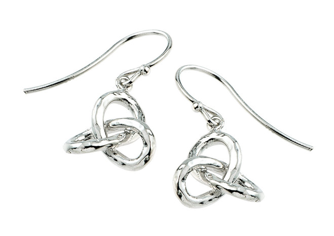 Celtic Triquetra Trinity Knot Silver Earrings