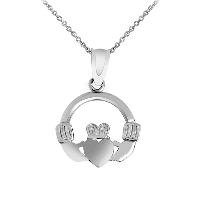Silver Claddagh Pendant Necklace