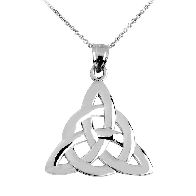 925 Sterling Silver Trinity Knot Pendant Necklace