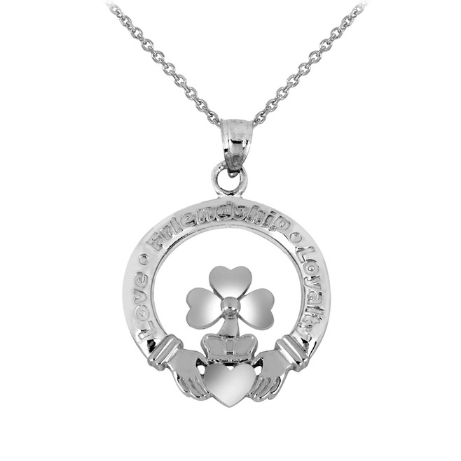 Silver Claddagh Charm Necklace