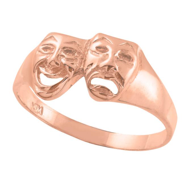 Rose Gold Drama Mask Ring