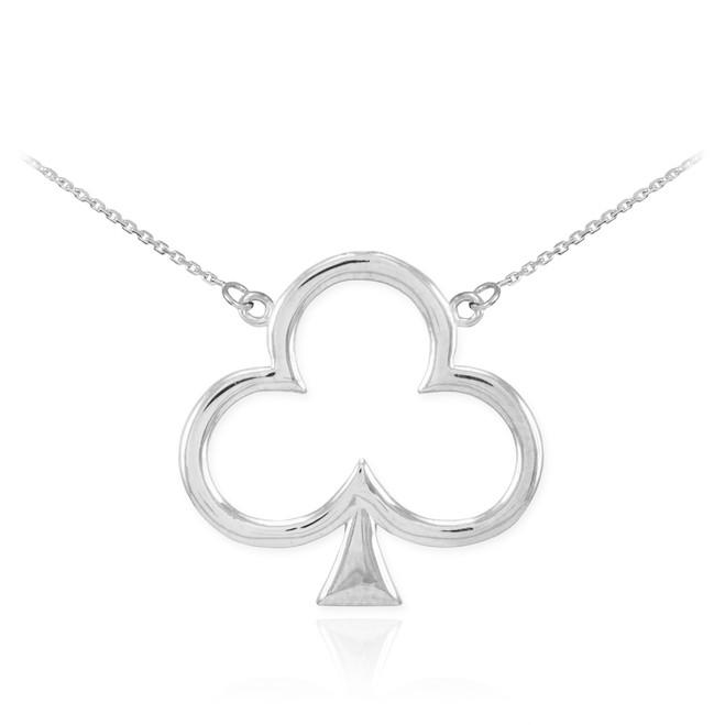 Sterling Silver Clover Shamrock Necklace