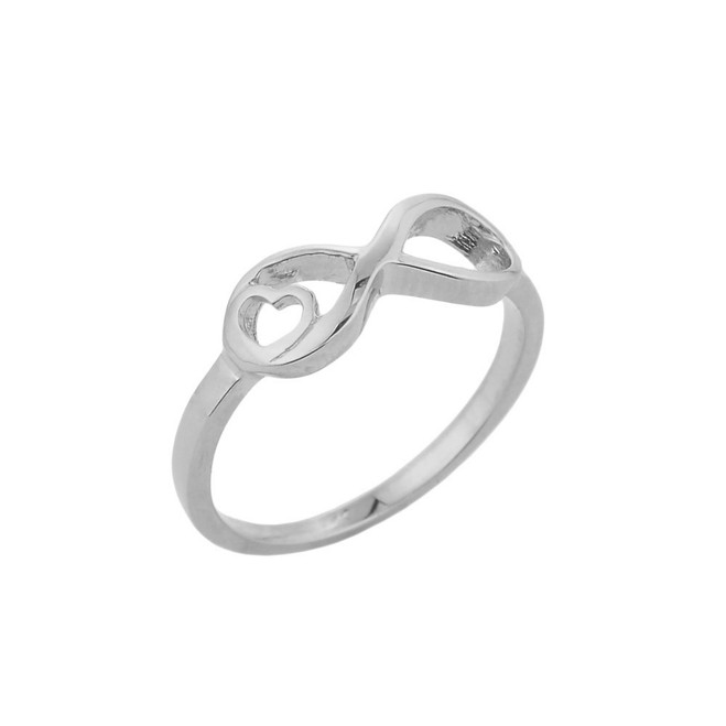 Sterling Silver Infinity with Heart Ring
