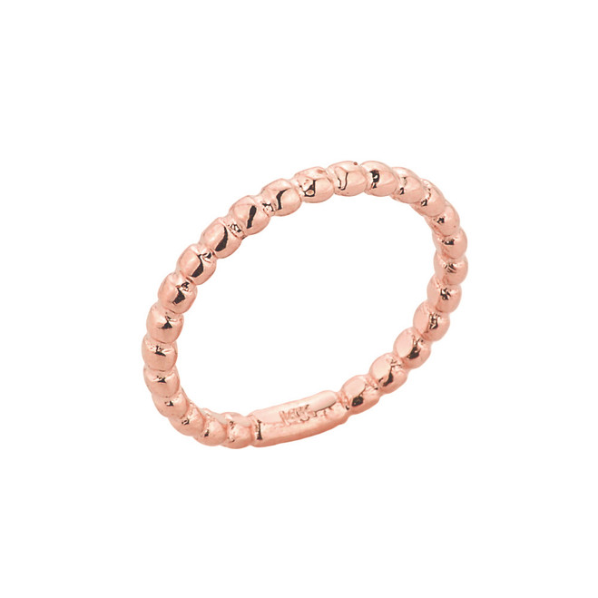 Rose Gold Ball Chain Bead Knuckle Ring