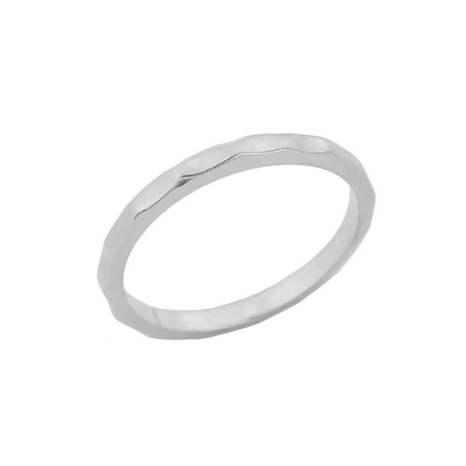 Sterling Silver Hammered Knuckle Ring