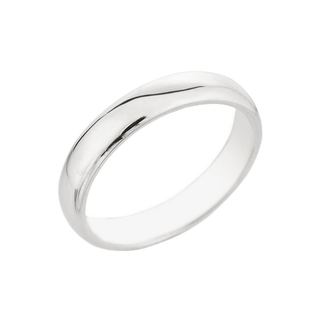 White Gold Classic Wedding Band 4MM