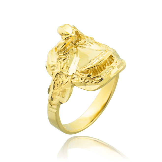 Gold Horse Saddle Ring