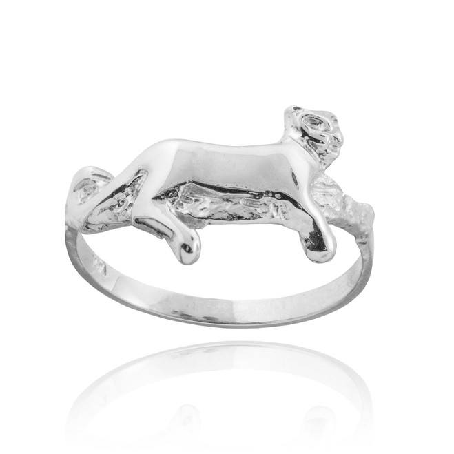 Sterling Silver Lioness Ring