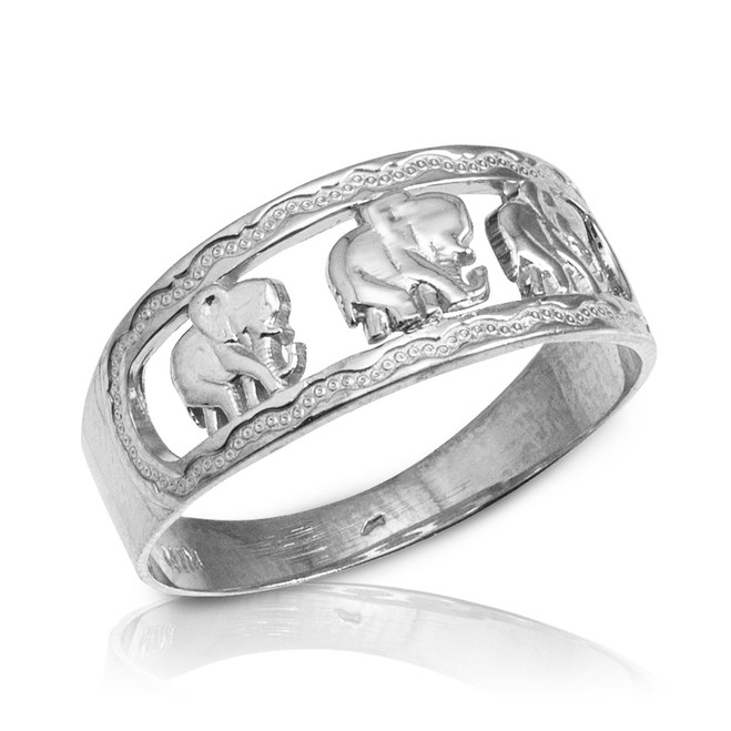 Sterling Silver Elephant Openwork Ring