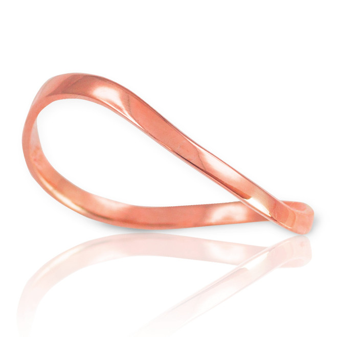 Rose Gold Wavy Thumb Ring