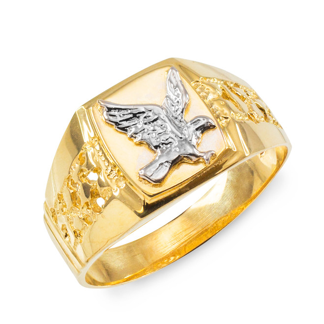 Men's Gold Eagle Ring