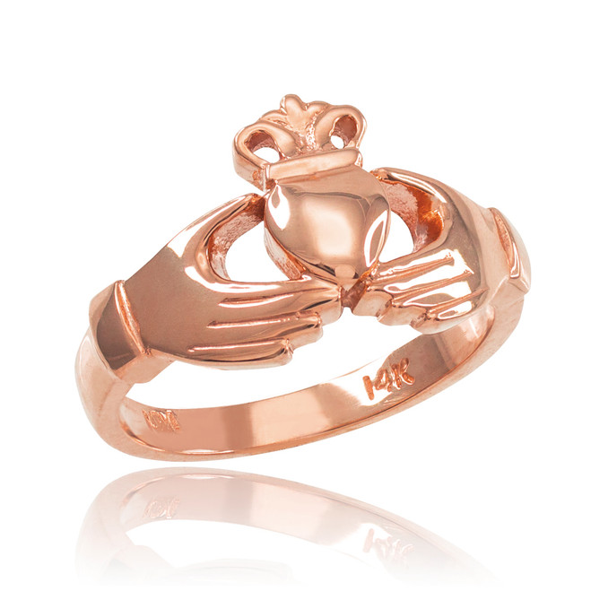 Rose Gold Classic Claddagh Engagement Ring