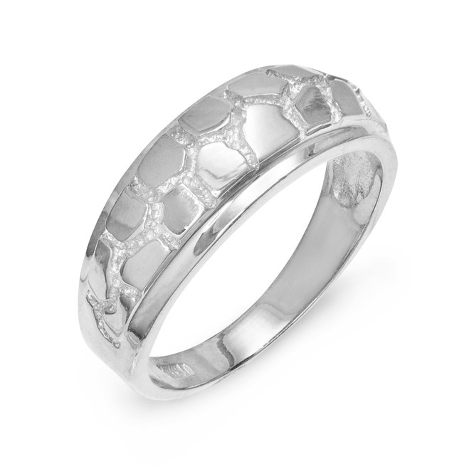 Sterling Silver Nugget Wedding Band