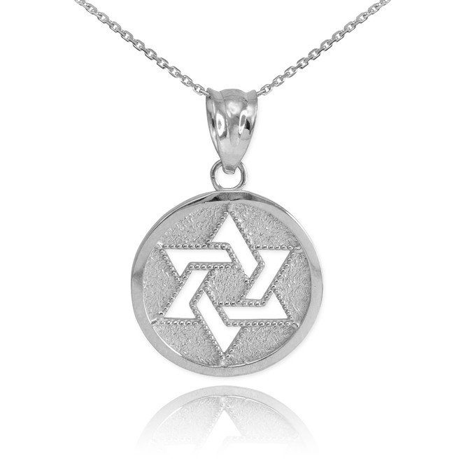 Sterling Silver Cut-Out Star of David Pendant Necklace