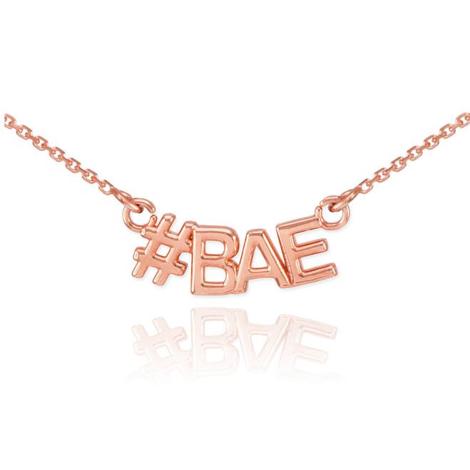 14k Rose Gold #BAE Necklace
